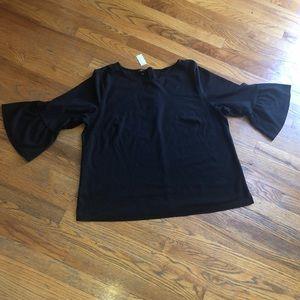NWT Talbots Woman 3/4 Bell Sleeve Shirt
